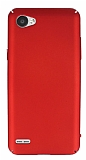 LG Q6 Tam Kenar Koruma Kırmızı Rubber Kılıf