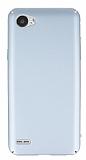 LG Q6 Tam Kenar Koruma Silver Rubber Kılıf