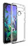 LG Q60 Ultra İnce Şeffaf Silikon Kılıf