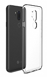 LG Q7 Ultra İnce Şeffaf Silikon Kılıf