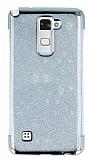 LG Stylus 2 / Stylus 2 Plus Simli Silver Silikon Kılıf