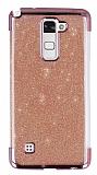 LG Stylus 2 / Stylus 2 Plus Simli Pembe Silikon Kılıf
