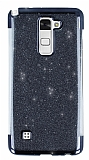 LG Stylus 2 / Stylus 2 Plus Simli Siyah Silikon Kılıf