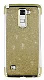 LG Stylus 2 / Stylus 2 Plus Simli Gold Silikon Kılıf