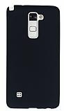 LG Stylus 2 / Stylus 2 Plus Mat Siyah Silikon Kılıf