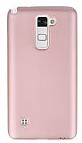 LG Stylus 2 / Stylus 2 Plus Mat Rose Gold Silikon Kılıf