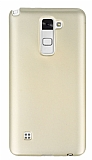 LG Stylus 2 / Stylus 2 Plus Mat Gold Silikon Kılıf