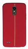 LG Stylus 3 Kadife Dokulu Kırmızı Silikon Kılıf