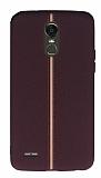 LG Stylus 3 Kadife Dokulu Bordo Silikon Kılıf
