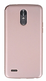 LG Stylus 3 Mat Rose Gold Silikon Kılıf