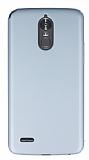 LG Stylus 3 Tam Kenar Koruma Silver Rubber Kılıf