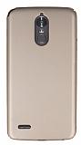 LG Stylus 3 Tam Kenar Koruma Gold Rubber Kılıf