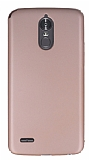 LG Stylus 3 Tam Kenar Koruma Rose Gold Rubber Kılıf
