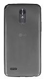 LG Stylus 3 Ultra İnce Şeffaf Siyah Silikon Kılıf
