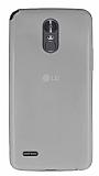 LG Stylus 3 Ultra İnce Şeffaf Silikon Kılıf