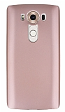 LG V10 Mat Rose Gold Silikon Kılıf