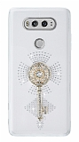LG V20 Taşlı Anahtar Şeffaf Silikon Kılıf