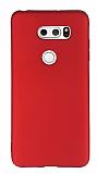 LG V30 Mat Kırmızı Silikon Kılıf