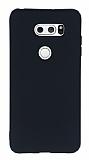 LG V30 Mat Siyah Silikon Kılıf