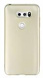 LG V30 Mat Gold Silikon Kılıf
