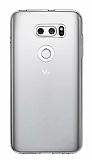 LG V30 Ultra İnce Şeffaf Silikon Kılıf