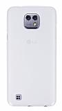 LG X cam Şeffaf Beyaz Silikon Kılıf