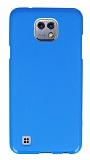 LG X cam Mavi Silikon Kılıf