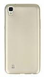 LG X power Mat Gold Silikon Kılıf
