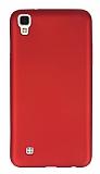 LG X power Mat Kırmızı Silikon Kılıf