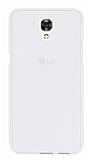 LG X screen Şeffaf Beyaz Silikon Kılıf