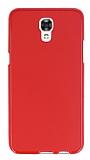LG X screen Kırmızı Silikon Kılıf