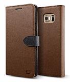 Lific Saffiano Diary Samsung Galaxy Note 5 Kahverengi Kılıf