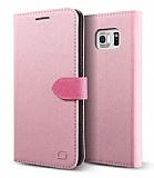 Lific Saffiano Diary Samsung Galaxy Note 5 Pembe Kılıf