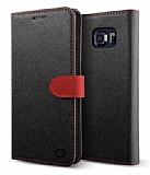 Lific Saffiano Diary Samsung Galaxy Note 5 Siyah Kılıf