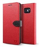 Lific Saffiano Diary Samsung Galaxy Note 5 Kırmızı Kılıf