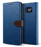 Lific Saffiano Diary Samsung Galaxy Note 5 Koyu Mavi Kılıf