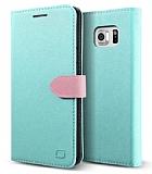 Lific Saffiano Diary Samsung Galaxy Note 5 Mint Kılıf
