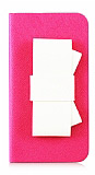Lovely iPhone 4 / 4S Papyonlu Kapakl� Koyu Pembe K�l�f