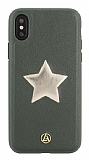 Luna Aristo Astro Serisi iPhone X / XS Gerçek Deri Yeşil Kılıf