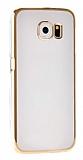 MeePhone Samsung Galaxy S6 Edge Plus Gold Kenarlı Kristal Kılıf