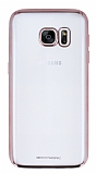 MeePhone Samsung Galaxy S7 Rose Gold Kenarlı Şeffaf Silikon Kılıf