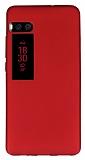 Meizu Pro 7 Mat Kırmızı Silikon Kılıf