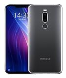 Meizu X8 Ultra İnce Şeffaf Silikon Kılıf