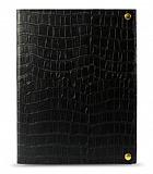 Melkco iPad 2 / iPad 3 / iPad 4 Desenli Siyah Deri K�l�f