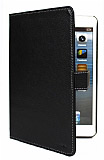 Melkco iPad Mini Standl� Yan Kapakl� Siyah Deri K�l�f