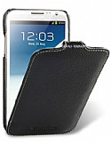 Melkco Samsung N7100 Galaxy Note 2 Kapakl� Siyah Deri K�l�f