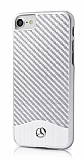Mercedes-Benz iPhone 7 Karbon Silver Rubber Kılıf