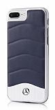 Mercedes-Benz iPhone 7 Plus Gerçek Deri Lacivert Rubber Kılıf