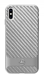 Mercedes-Benz iPhone X Karbon Silver Rubber Kılıf