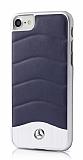 Mercedes-Benz iPhone 7 Gerçek Deri Lacivert Rubber Kılıf